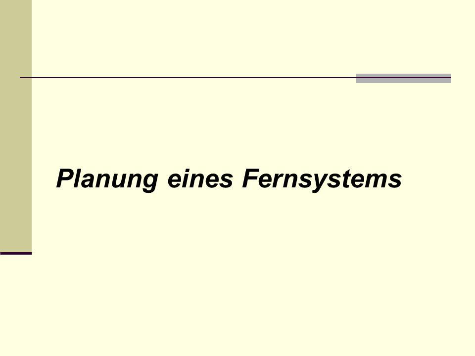 Einsatz eines Fernsystems Ziel: Aktuellen Zustand der Technische Prozesse darstellen Änderungen an den Technischen Prozess vornehmen