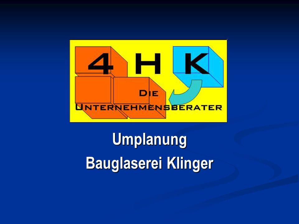 Umplanung Bauglaserei Klinger