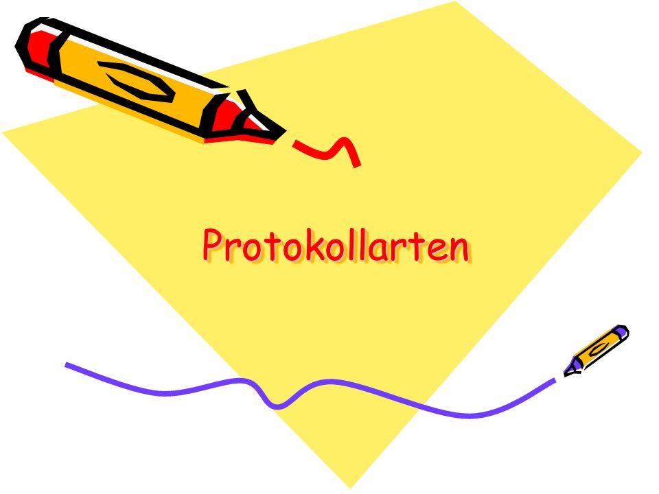 Protokollarten Protokollarten