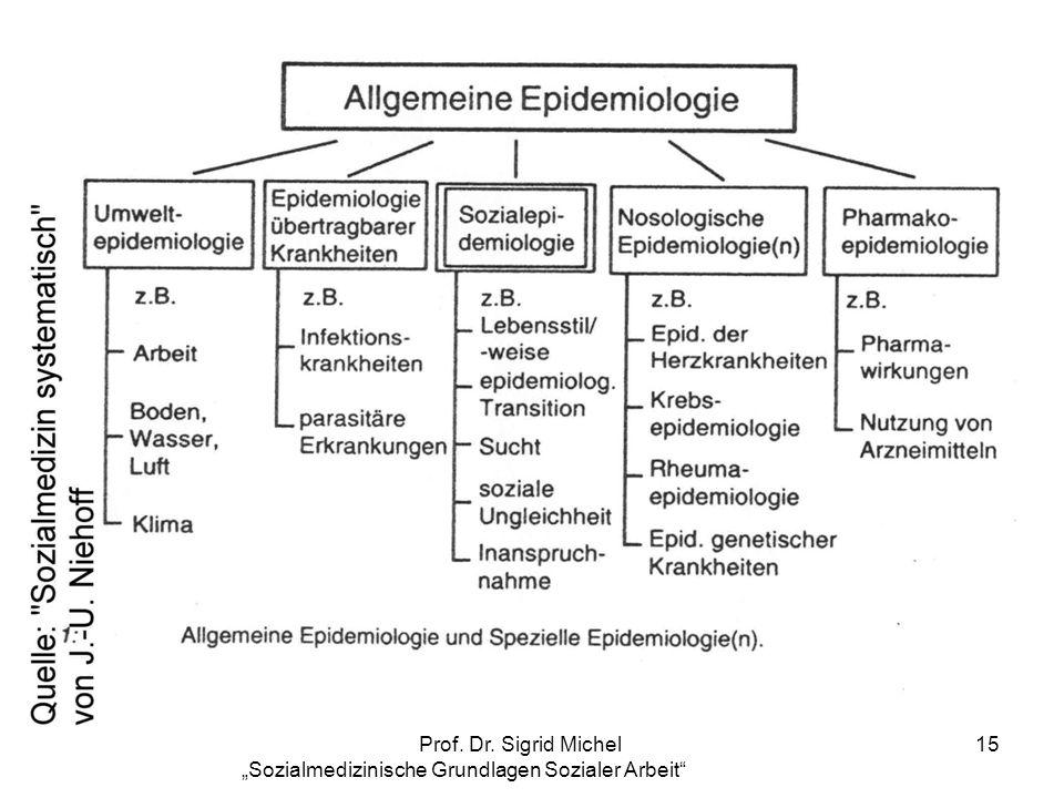 Prof. Dr. Sigrid Michel Sozialmedizinische Grundlagen Sozialer Arbeit 15