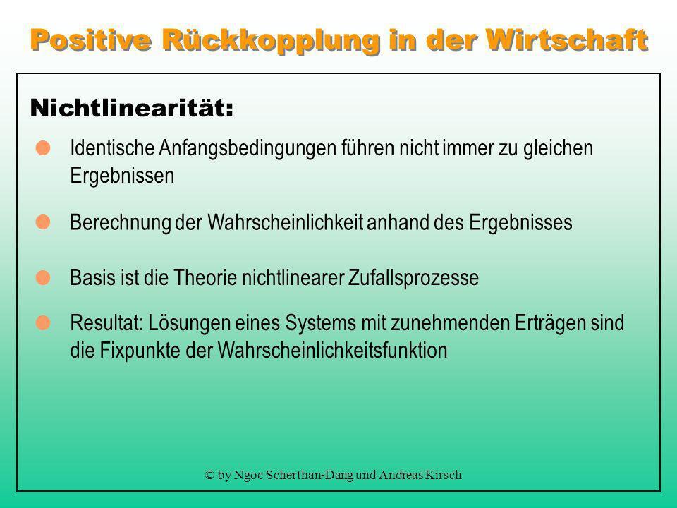 Positive Rückkopplung in der Wirtschaft © by Ngoc Scherthan-Dang und Andreas Kirsch Denkbarrieren: Beschreibung der positiven Rückkopplung als dynamis