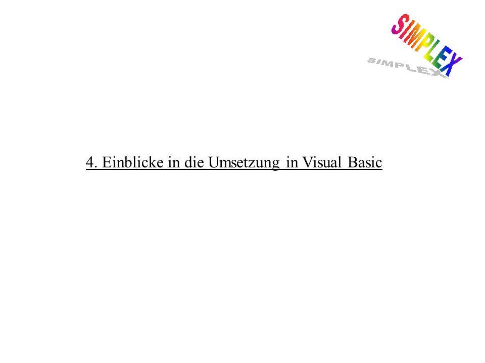 4. Einblicke in die Umsetzung in Visual Basic