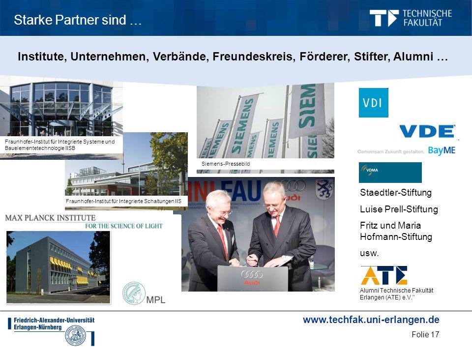 www.techfak.uni-erlangen.de Folie 17 Fraunhofer-Institut für Integrierte Schaltungen IISFraunhofer-Institut für Integrierte Systeme und Bauelementetec