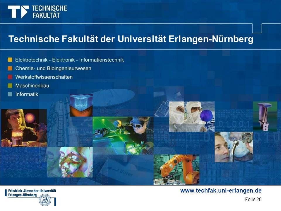 www.techfak.uni-erlangen.de Folie 28 Technische Fakultät der Universität Erlangen-Nürnberg