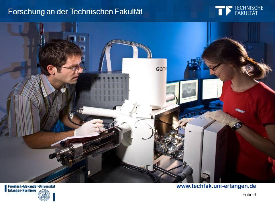 www.techfak.uni-erlangen.de Folie 6 Forschung an der Technischen Fakultät