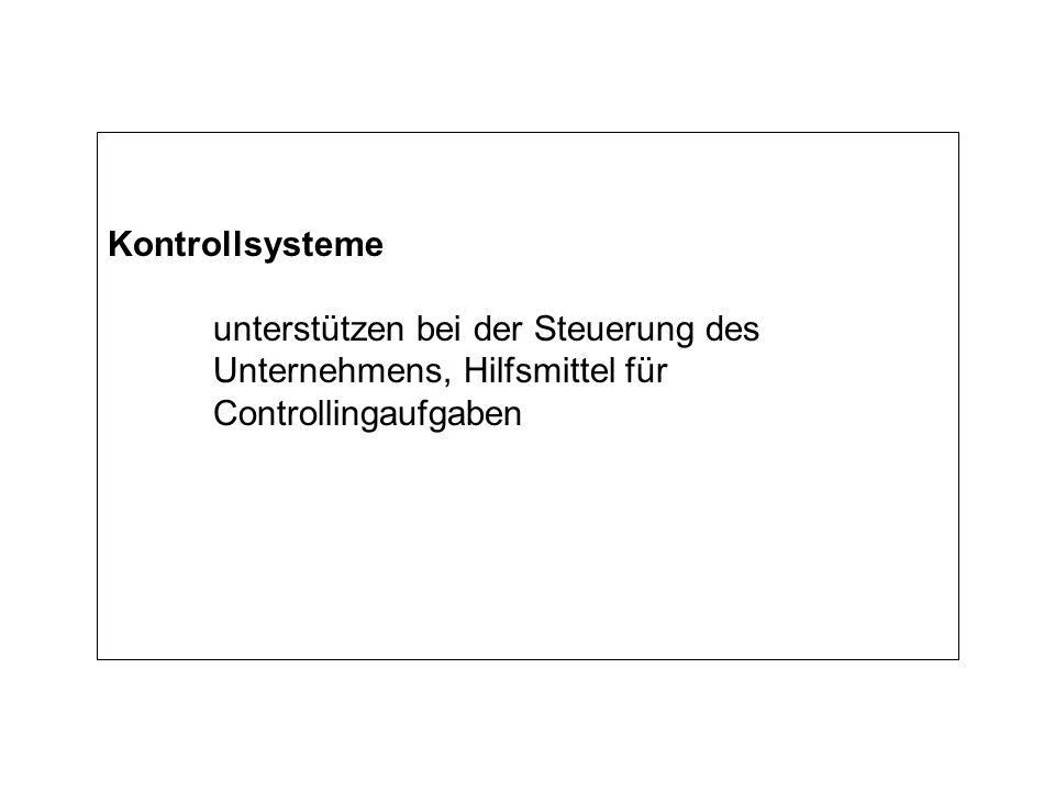 Kontrollsysteme unterstützen bei der Steuerung des Unternehmens, Hilfsmittel für Controllingaufgaben