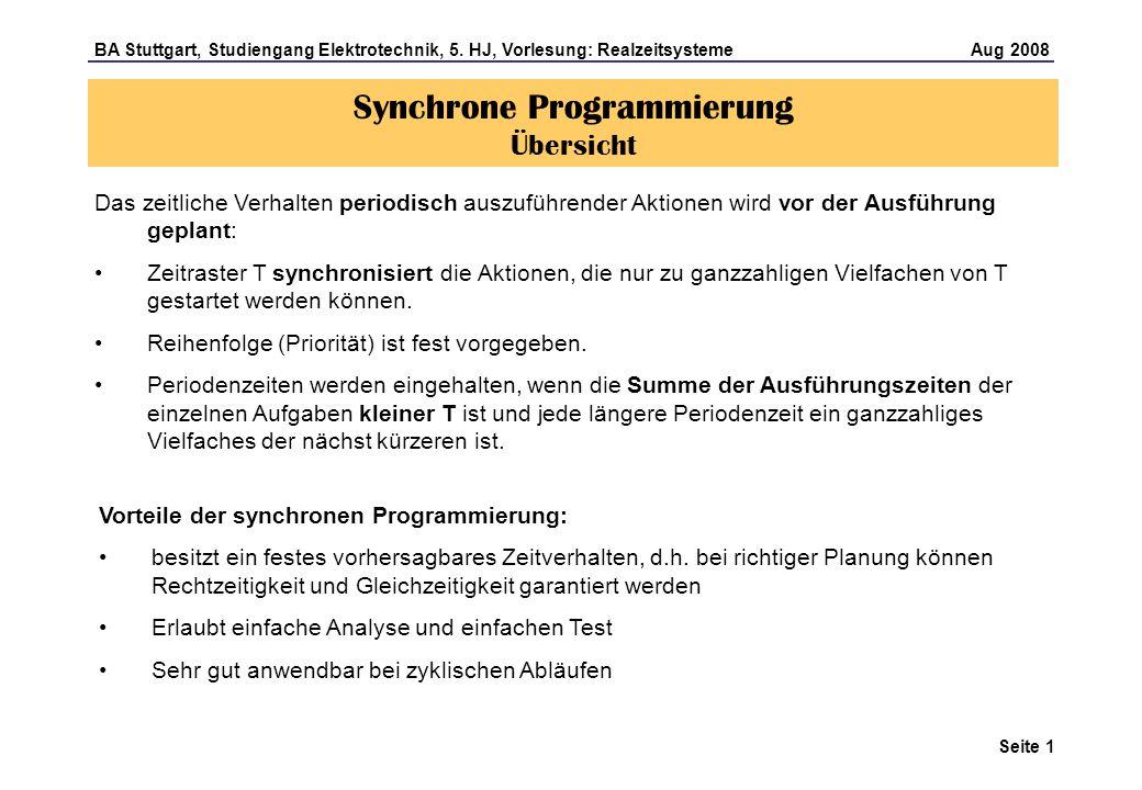 Seite 1 BA Stuttgart, Studiengang Elektrotechnik, 5.
