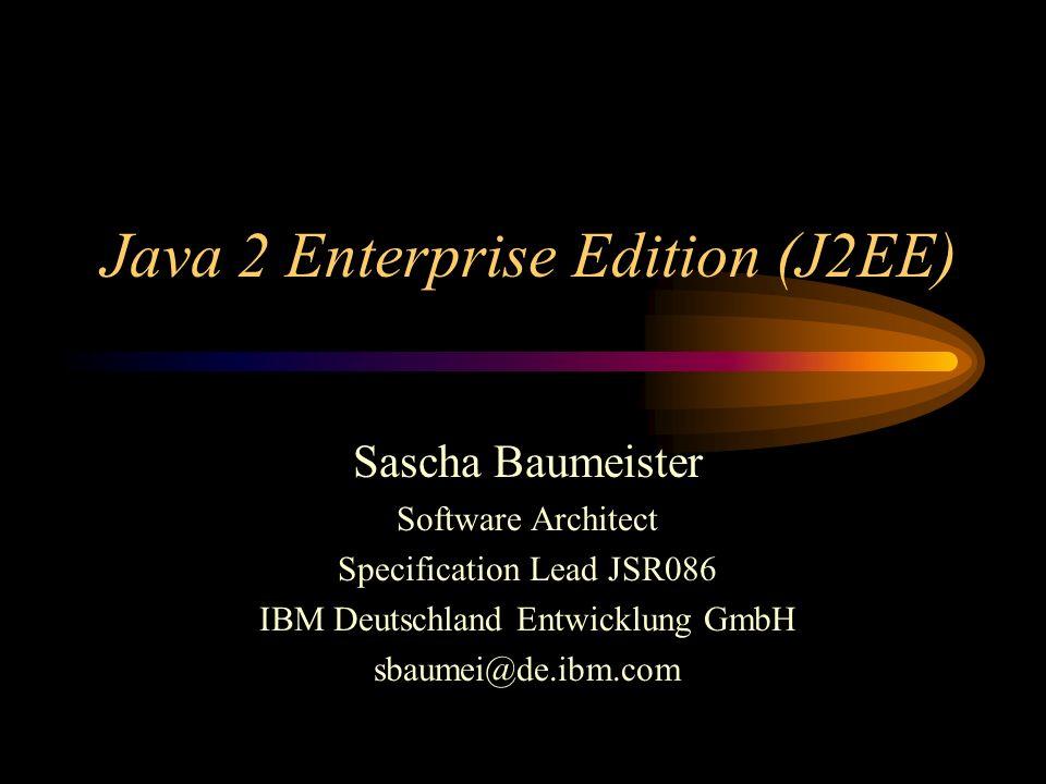 J2EE Container Servlet-Instanzen werden HTTP-Requests vom J2EE- Container zugeteilt, daher kann State-Information nicht wie üblich in eigenen Instanzvariablen abgelegt werden.