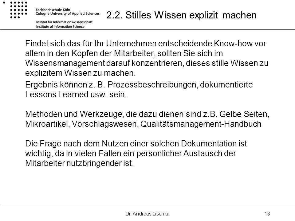 Dr.Andreas Lischka13 2.2.