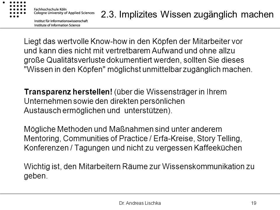 Dr.Andreas Lischka19 2.3.