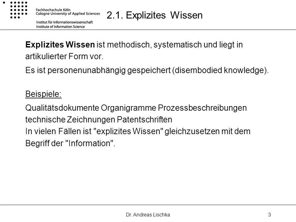 Dr.Andreas Lischka3 2.1.