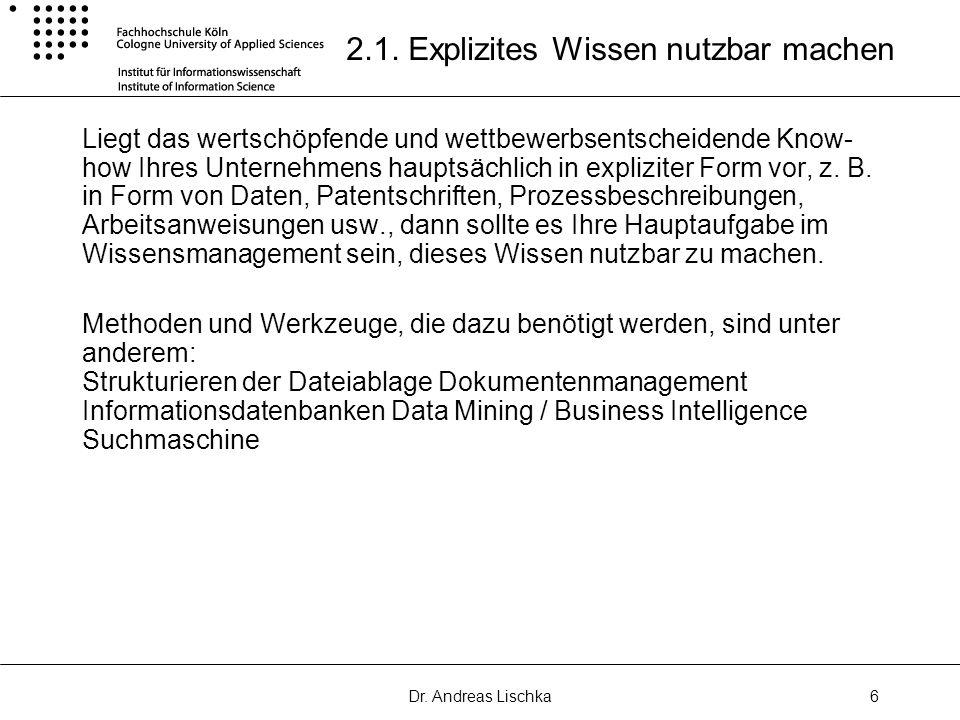 Dr.Andreas Lischka6 2.1.