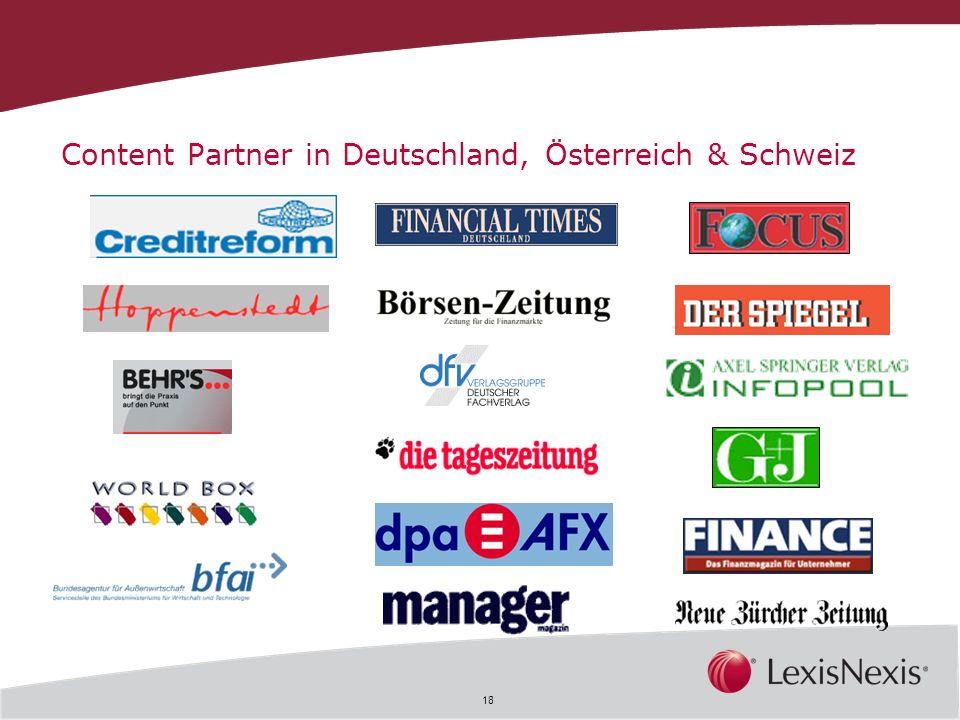 18 Content Partner in Deutschland, Österreich & Schweiz