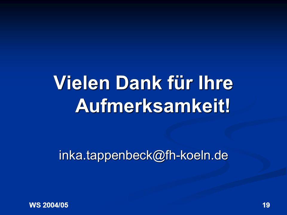 WS 2004/0518 Kommunikations- psychologie Feedback - allgemeines / spezifisches Feedback - positives / negatives Feedback - realistisches / unrealistis
