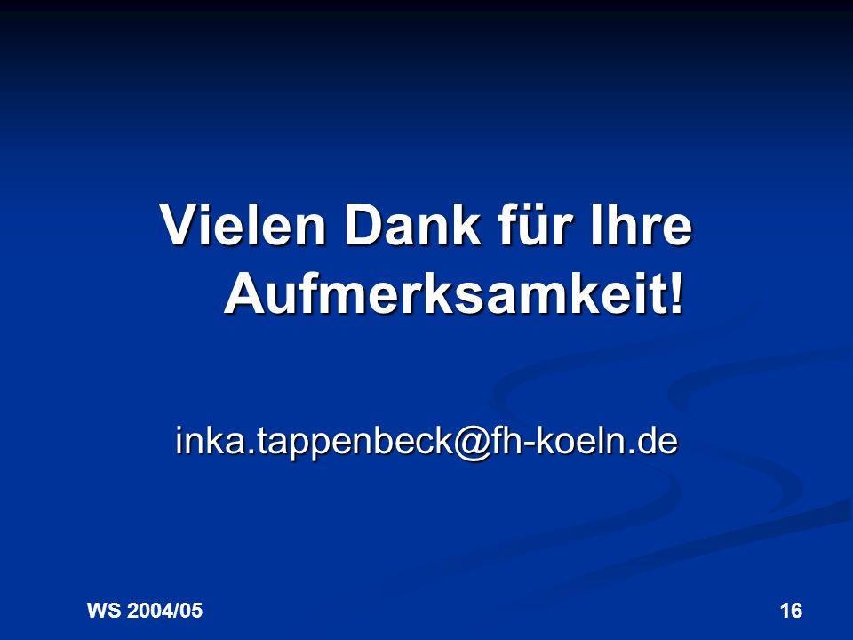 WS 2004/0515 Formen und Beispiele 5. Publikationsdienstleistungen an Bibliotheken Universitätsverlag Göttingen: http://www.univerlag.uni-goettingen.de