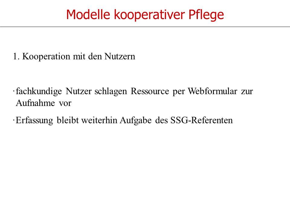 Modelle kooperativer Pflege 1.