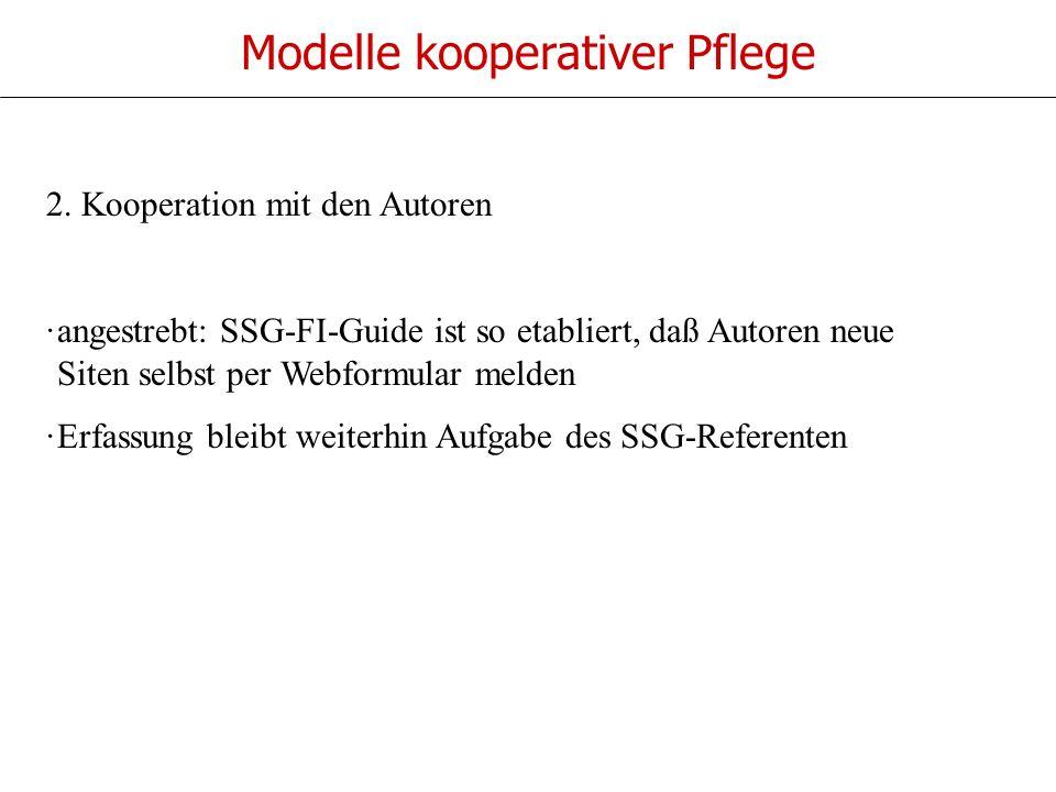 Modelle kooperativer Pflege 2.
