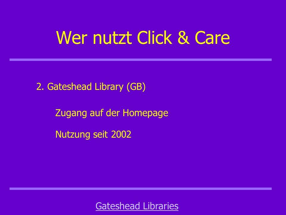 Wer nutzt Click & Care 2.