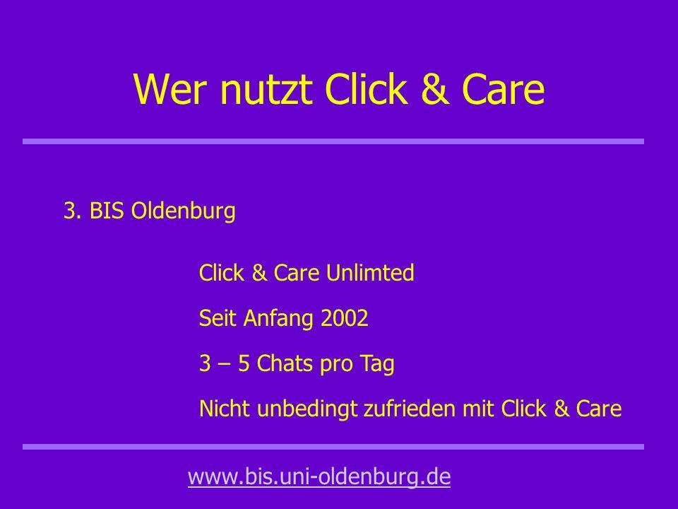 Wer nutzt Click & Care 3.