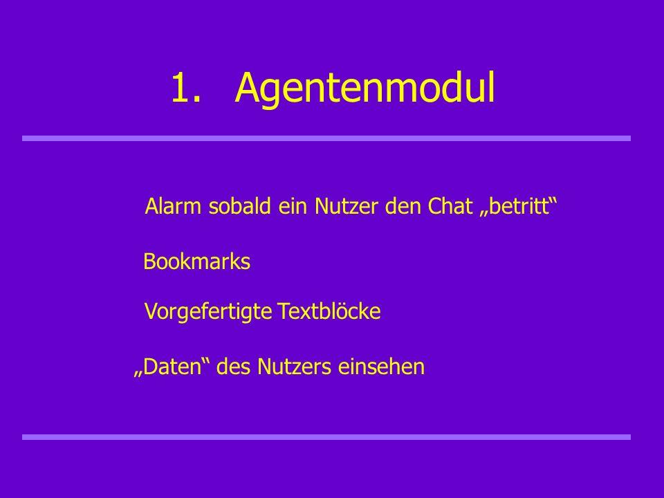 1.Agentenmodul Persönliche Einstellungen Interner Chat Pagepushing - Funktion Anfragen weiterleiten