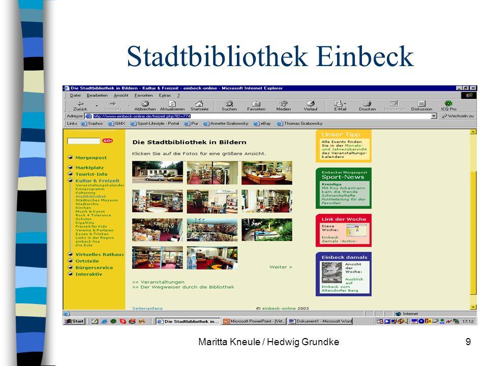 Maritta Kneule / Hedwig Grundke9 Stadtbibliothek Einbeck