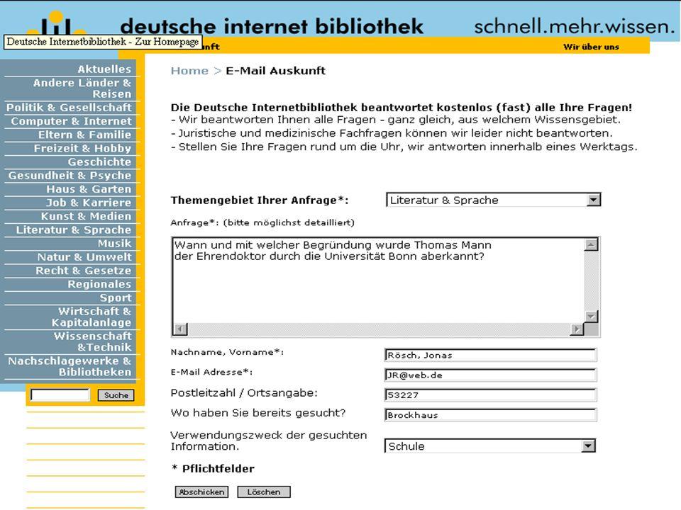 Hermann Rösch: Digitale AuskunftFolie 25 von 30