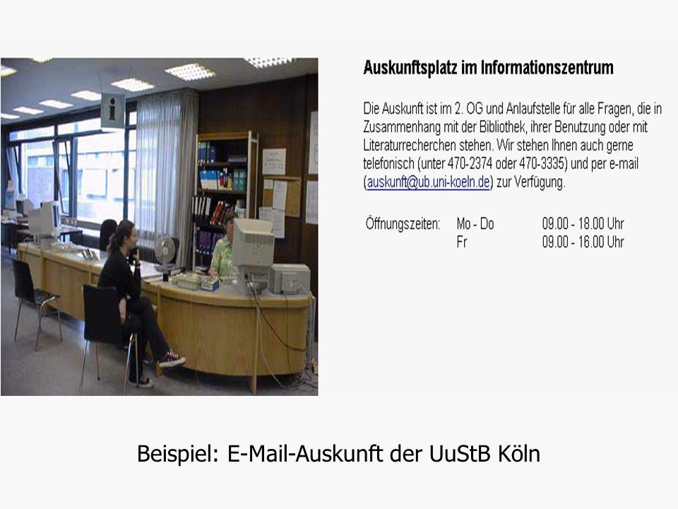 Hermann Rösch: Digitale AuskunftFolie 20 von 30 Digitale Auskunft Technische und organisatorische Formen 6.