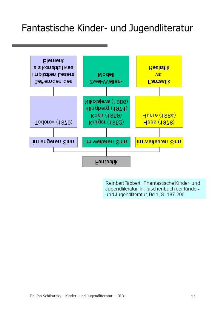Dr. Isa Schikorsky - Kinder- und Jugendliteratur - BIB1 11 Fantastische Kinder- und Jugendliteratur Reinbert Tabbert: Phantastische Kinder- und Jugend