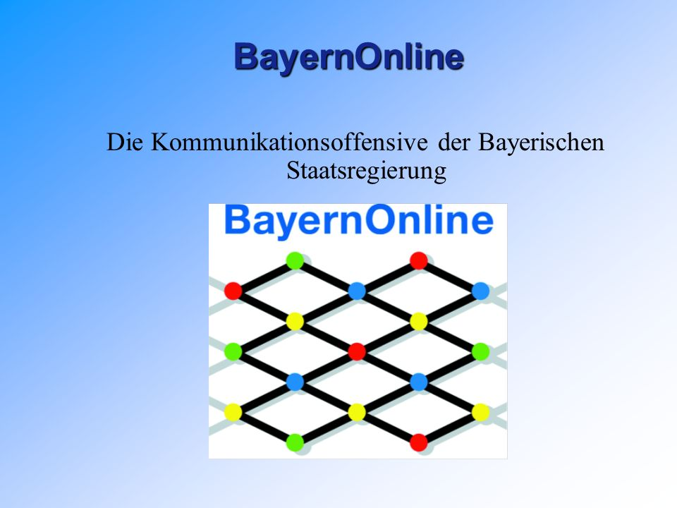 BayernOnlineBayernOnline Die Kommunikationsoffensive der Bayerischen Staatsregierung