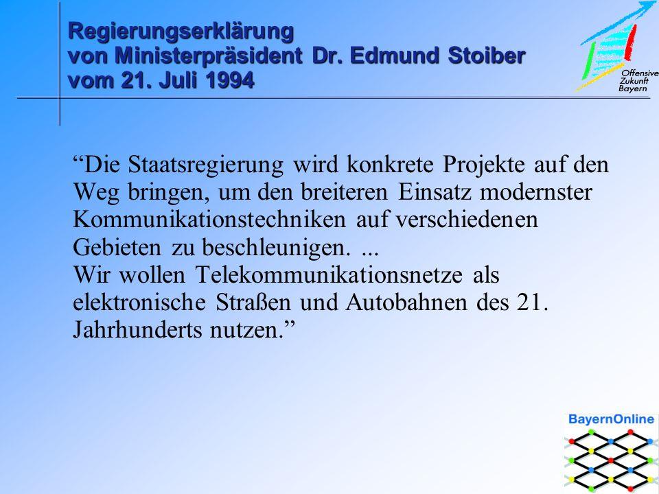 Regierungserklärung von Ministerpräsident Dr.Edmund Stoiber vom 21.