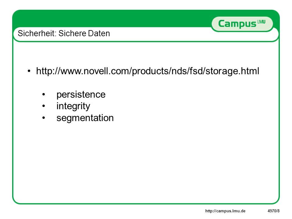 http://campus.lmu.de4970/19 OnDemand: Persönliche Datenverarbeitung