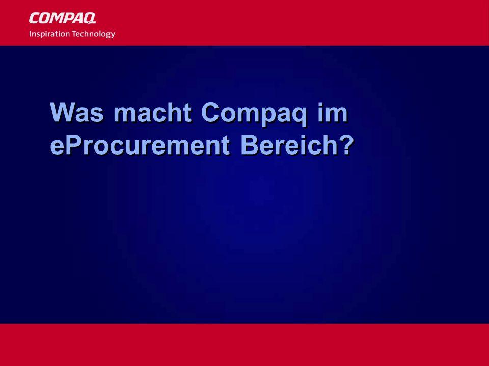 Was macht Compaq im eProcurement Bereich?