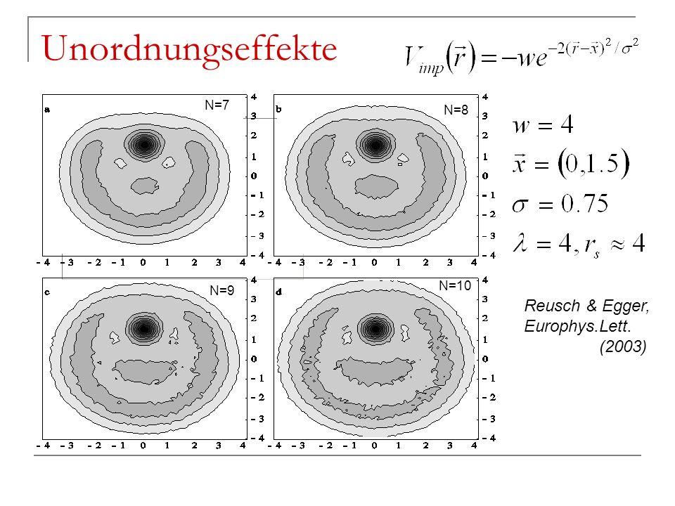 Unordnungseffekte Reusch & Egger, Europhys.Lett. (2003) N=7 N=8 N=9 N=10