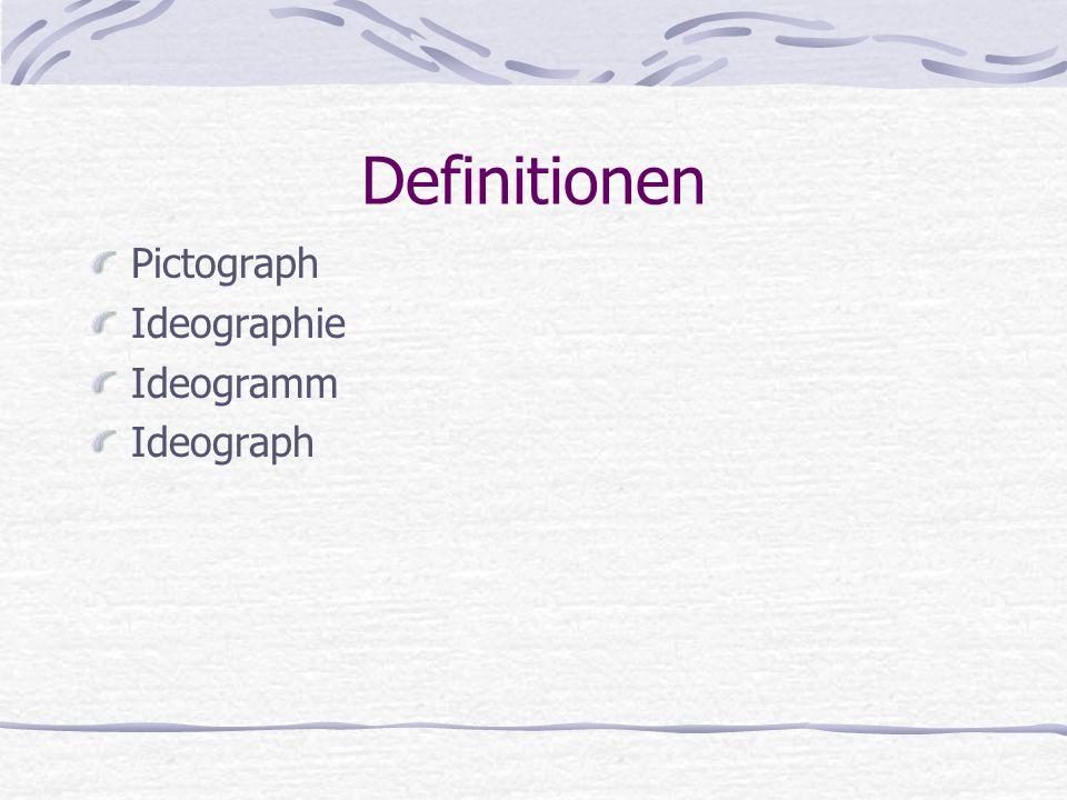 Pictograph Symbol, welches ein Ding oder eine Handlung darstellt.