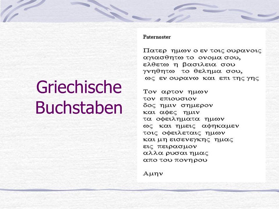 Griechische Buchstaben