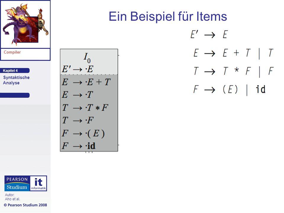 Kapitel 4 Compiler Syntaktische Analyse Autor: Aho et al. Ein Beispiel für Items