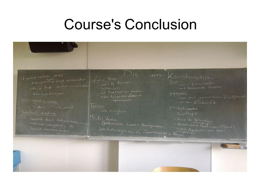 Course's Conclusion