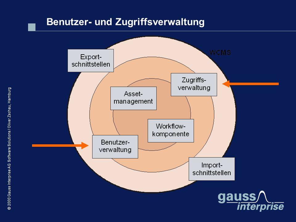 © 2000 Gauss Interprise AG Software Solutions / Oliver Zschau, Hamburg Benutzer- und Zugriffsverwaltung