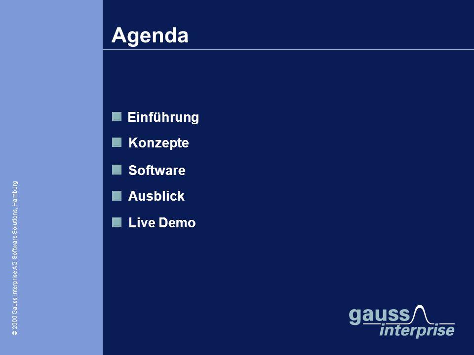 © 2000 Gauss Interprise AG Software Solutions / Oliver Zschau, Hamburg © 2000 Gauss Interprise AG Software Solutions, Hamburg Einführung Konzepte Soft