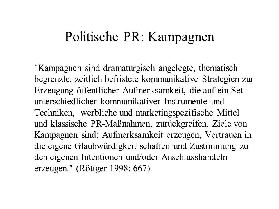 Politische PR: Kampagnen