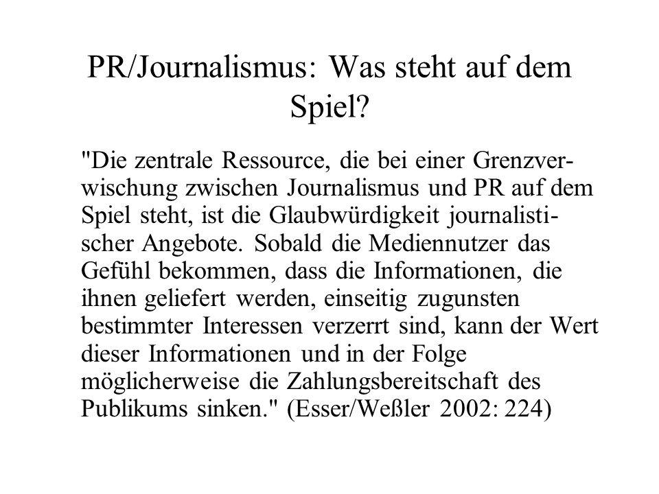 PR/Journalismus: Was steht auf dem Spiel?