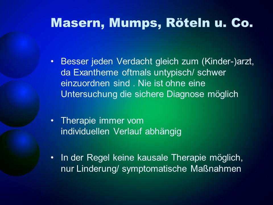 IOL: Akute Rhino-, Tonsillo-, Pharyngitis Therapie symptomatisch: Körperliche Schonung, Nasentropfen, pflanzl.
