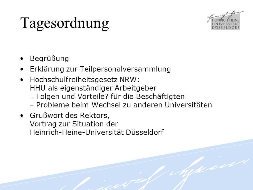 Tagesordnung Fortsetzung Neue Tarifverträge für wissenschaftliches Personal TV-L:Besonderheiten für Universitätspersonal Referent: Dr.