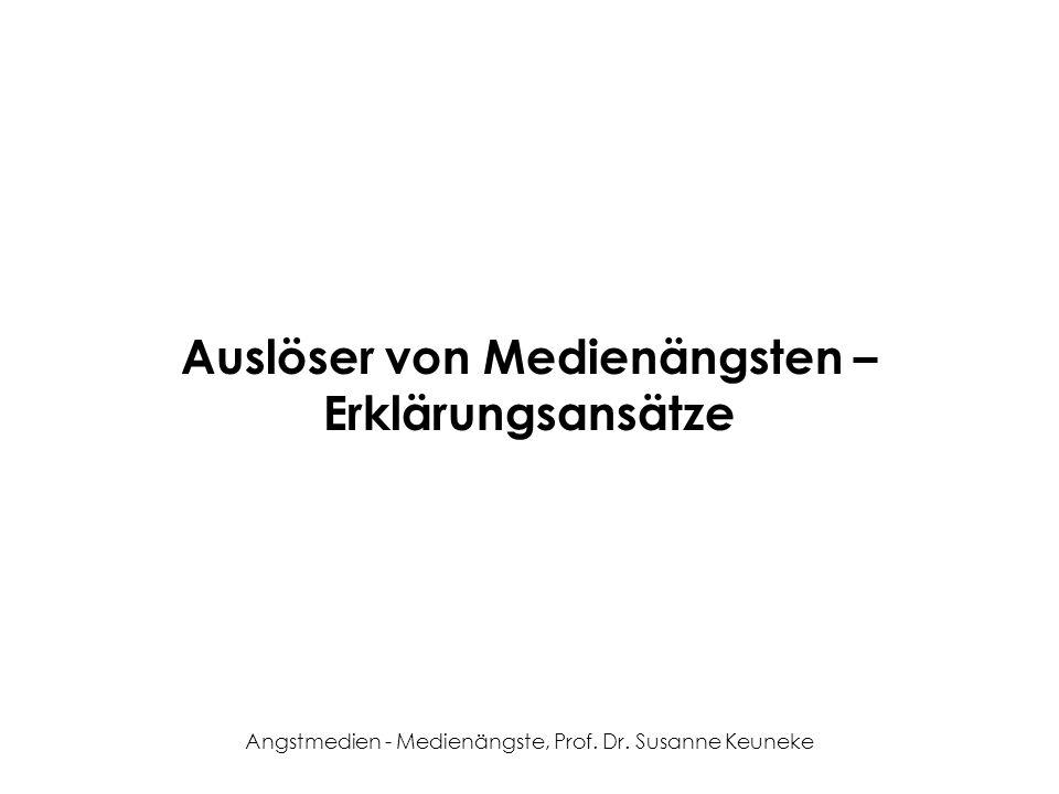 Angstmedien - Medienängste, Prof. Dr. Susanne Keuneke Auslöser von Medienängsten – Erklärungsansätze