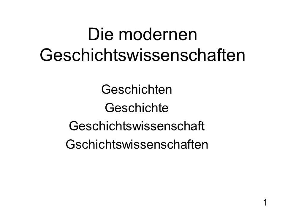 2 IV.HISTORISMUS I. Weite Definition: Das Zeitalter des Historismus (1800-1960) H.