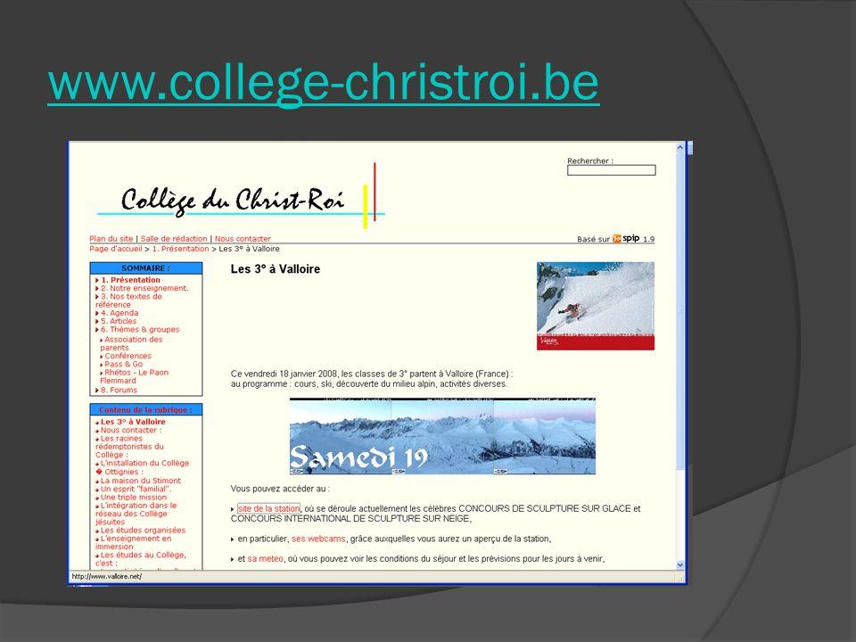 Links www.college-christroi.be Offizielle Webseite von Ottigies-Louvain- la-Neuve Offizielle Webseite von Ottigies-Louvain- la-Neuve Université Catholique de Louvain Louvain-la-Neuve Science Park