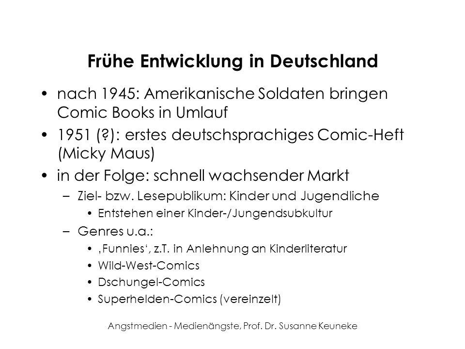 Angstmedien - Medienängste, Prof. Dr. Susanne Keuneke Frühe Entwicklung in Deutschland nach 1945: Amerikanische Soldaten bringen Comic Books in Umlauf