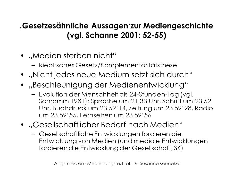 Angstmedien - Medienängste, Prof. Dr. Susanne Keuneke Medien in der Antike