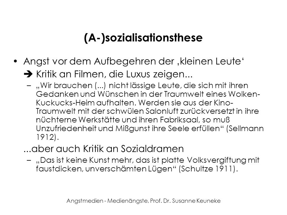 Angstmedien - Medienängste, Prof.Dr.