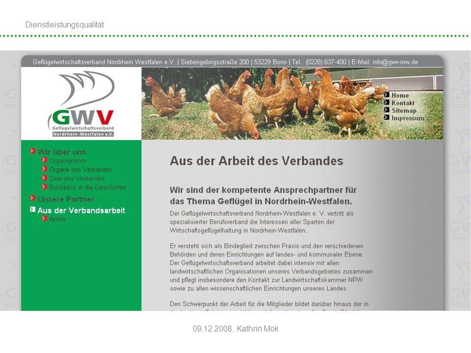 Dienstleistungsqualität 09.12.2008, Kathrin Mok Beispiele